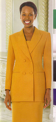 GMI 12269-IH ( 3pc PeachSkin GMI Church And Choir Suit )<b> ( Each Suit Includes Free Pair Of White Gloves )</b>
