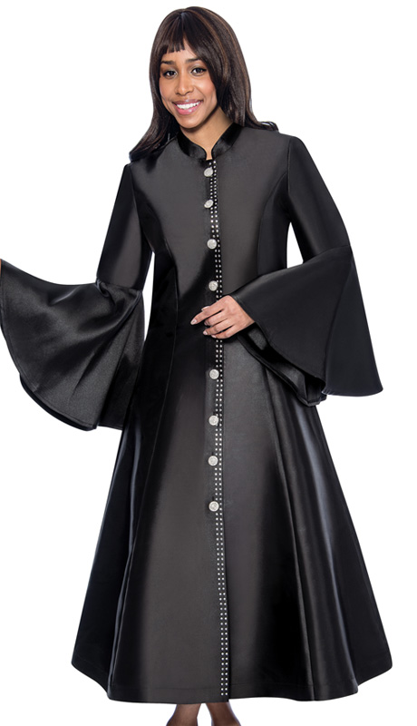 RR9031-BLK-CO ( 1pc GMI Church And Choir Robe With Bell Sleeve )