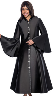 RR9031-BLK ( 1pc GMI Church And Choir Robe With Bell Sleeve )