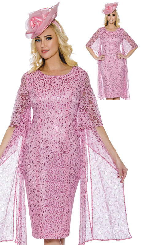 Giovanna D1352-PI-CO ( 1pc Flowing Lace Dress )