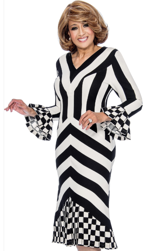 Dorinda Clark Cole 251-IH  ( 1pc Silk Look  Ladies Church Dress )
