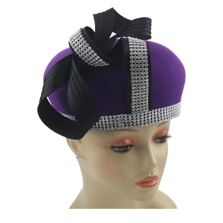 8267 ( Womens Wool Felt Hat For Church )