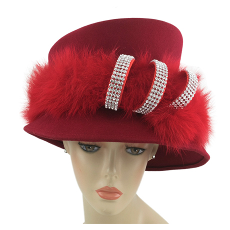 8268 ( Ladies Wool Felt Church Hat )