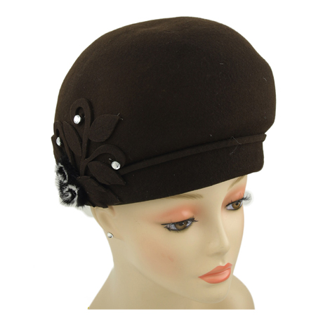 CM247 ( Wool Felt Womens Church Hat )