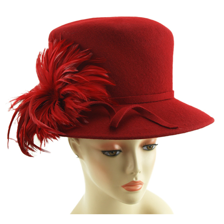 CM254 ( Wool Felt Ladies Hat For Church )