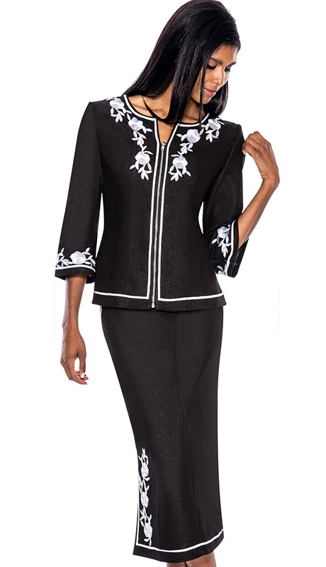 Devine Sport 50882-BW ( 2pc Denim Devine Sport Womens ChurchSuit )