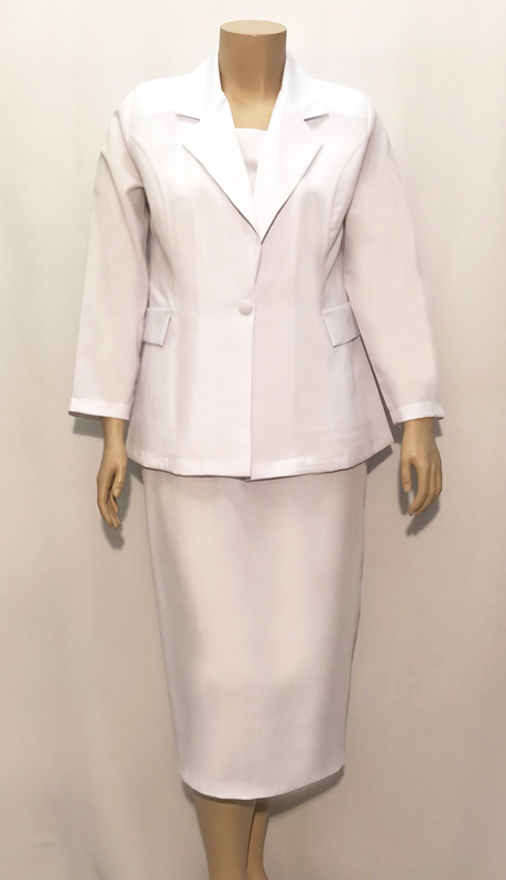 Diamond Collection A6885 ( 3pc Fully Lined Renova Chuch Suit With Solid Cami And Elastic Waistband )