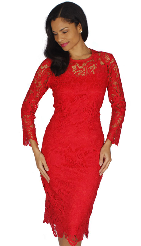 Diana Couture 7069-RE ( 1pc Lace First Lady Dress )