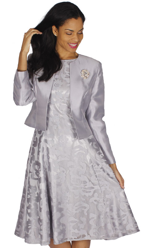 Diana Couture 8138-SI ( 2pc Ladies Silk Suit For Sunday )