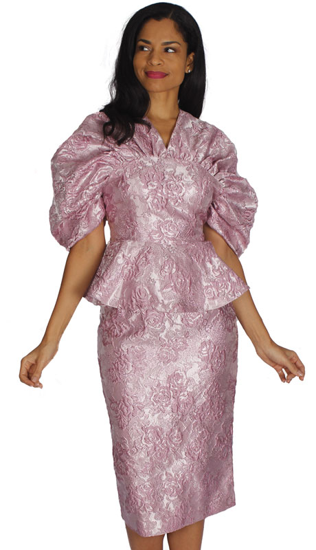 Diana Couture 8573-MA ( 2pc Brocade Suit For Sunday )
