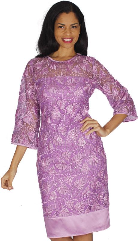 Diana Couture 8583-LA ( 1pc Lace Ladies Church Dress )