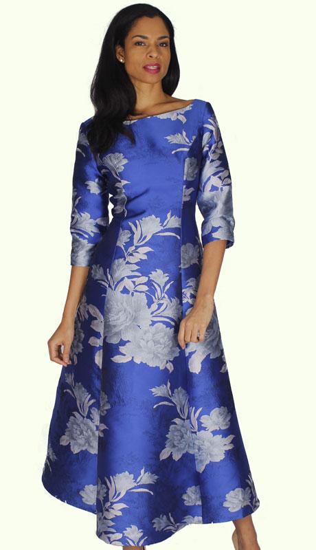 Diana Couture 8588-RO ( 1pc Silk Ladies Church Dress )