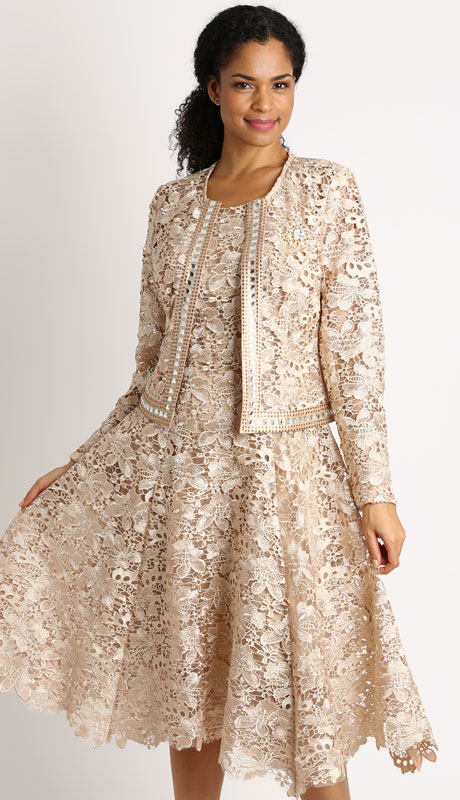 Diana Couture 8190-CO ( 2pc Lace Jacket And Dress For Sunday )