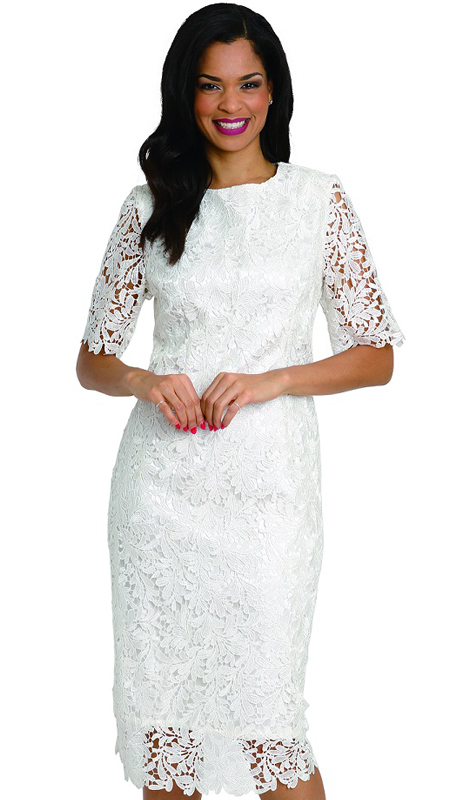 Diana Couture 8005 ( 1pc Lace Ladies Church Dress )