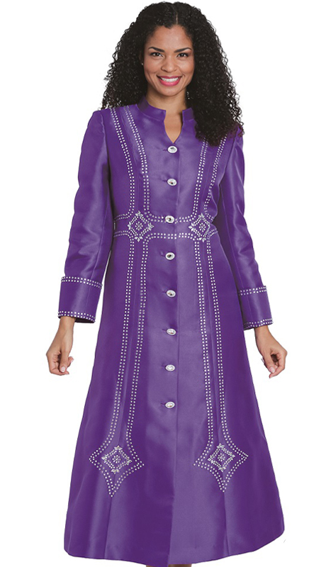 Diana Couture 8132-PR ( 1Pc First Lady Silk Robe )