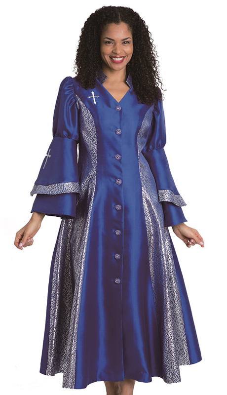 Diana Couture 8147 RO-CO ( 1 Pc Silk Women Sunday Robe For Church )