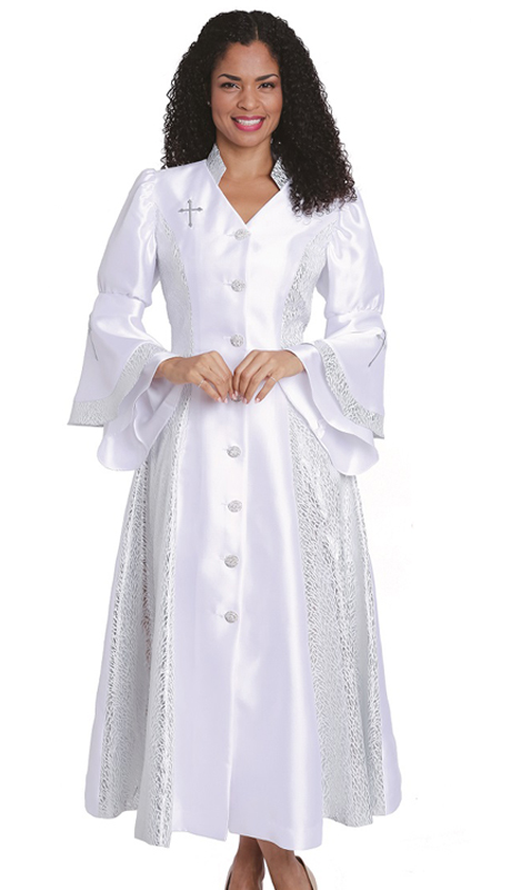 Diana Couture 8147 W  ( 1 Pc Silk Women Sunday Robe For Church )