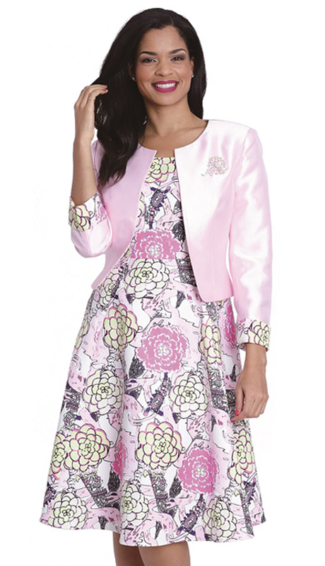 Diana Couture 8065-CO ( 2 Pc Dress With Jacket For Church )