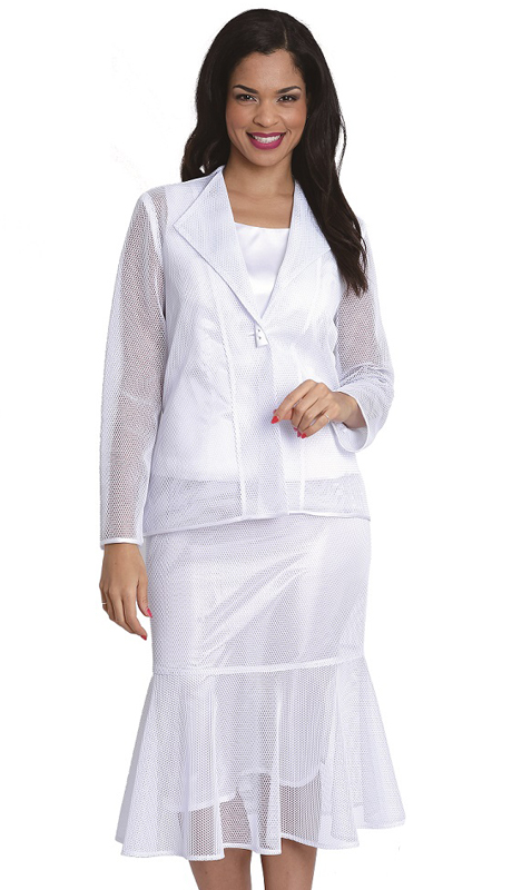 Diana Couture 8063 ( 3 Pc Women Sunday Suit )