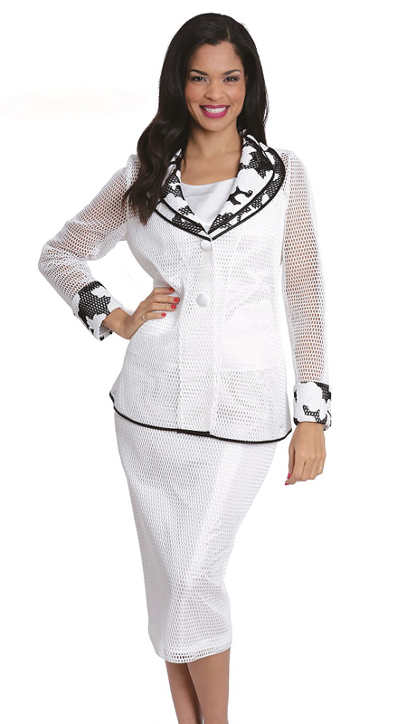 Diana Couture 8073 ( 2 Pc Ladies Church Suit )