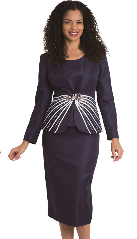 Diana Couture 8161-8168-N ( 3 Pc Peach Skin First Lady Skirt Suit For Church )