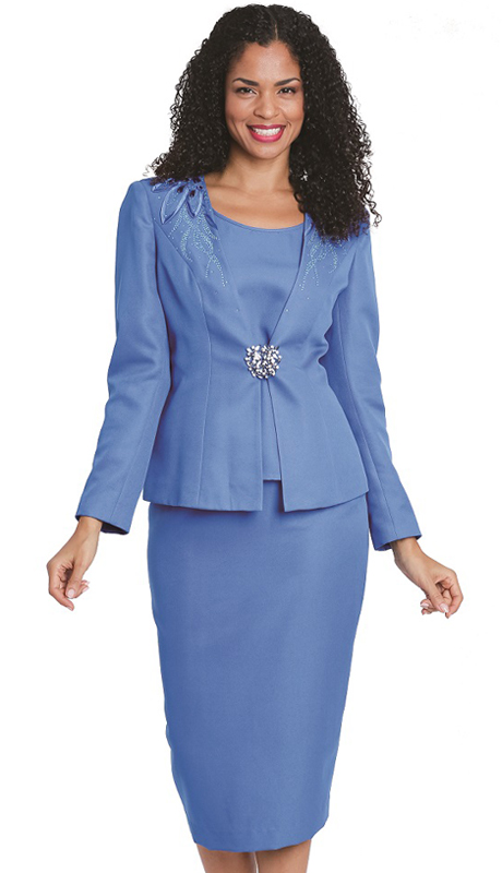 Diana Couture 8156 ( 3 Pc Peac Skin Women Sunday For Church )