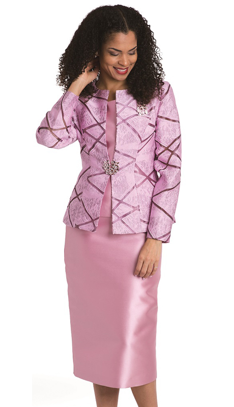 Diana Couture 8135 3pc Novelty Womens Suit For Church
