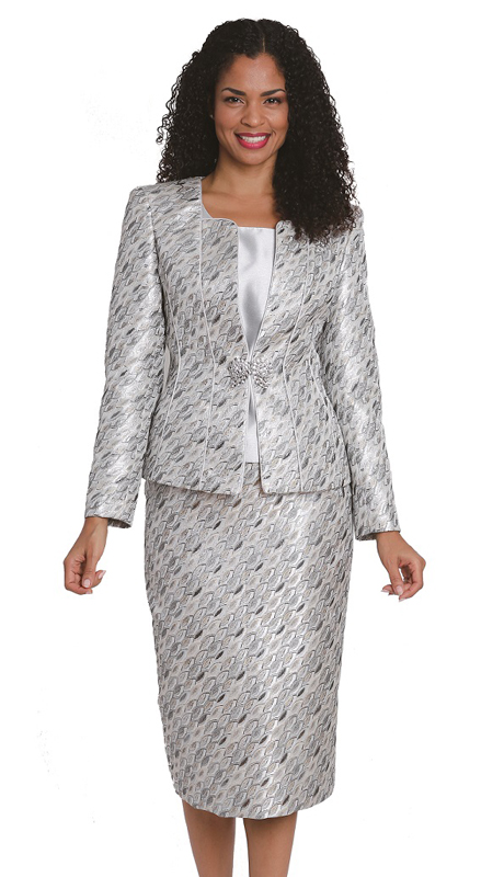 Diana Couture 8134 ( 3pc Novelty Womens Sunday Suit )