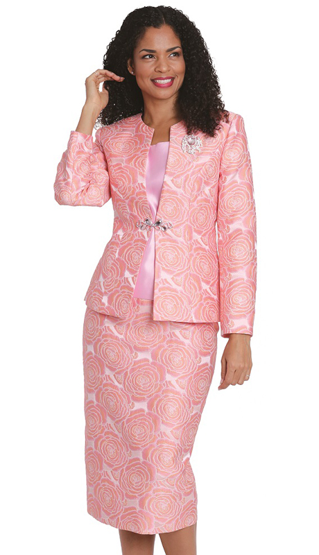 Diana Couture 8172 ( 3pc Ladies Brocade Church Suit )