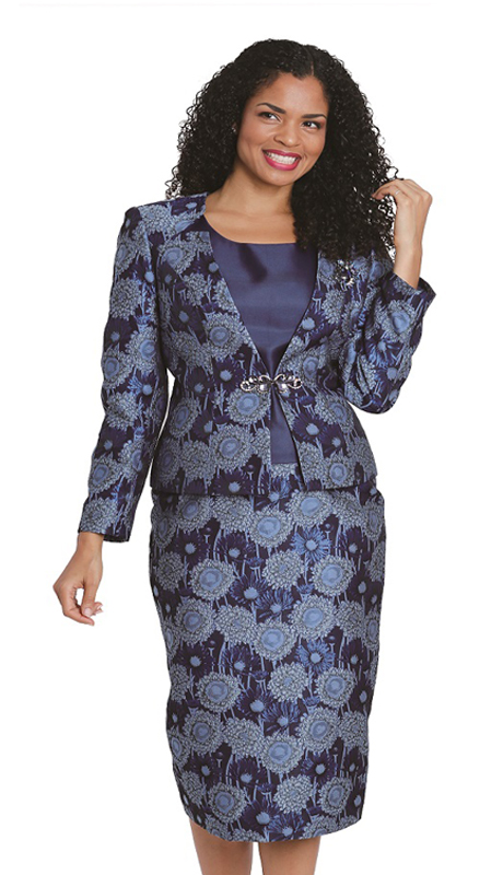 Diana Couture 8133 ( 3pc First Ladies Brocade Sunday Suit )