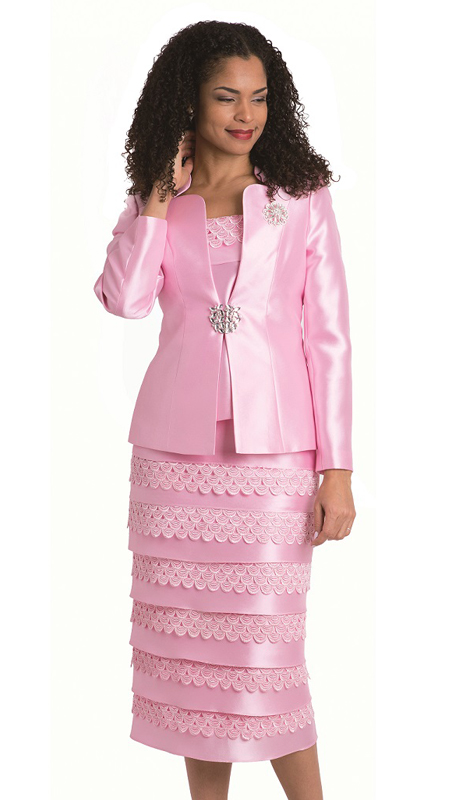 Diana Couture 8139 ( 3pc Silk Look Jacket Print Dress For Church )