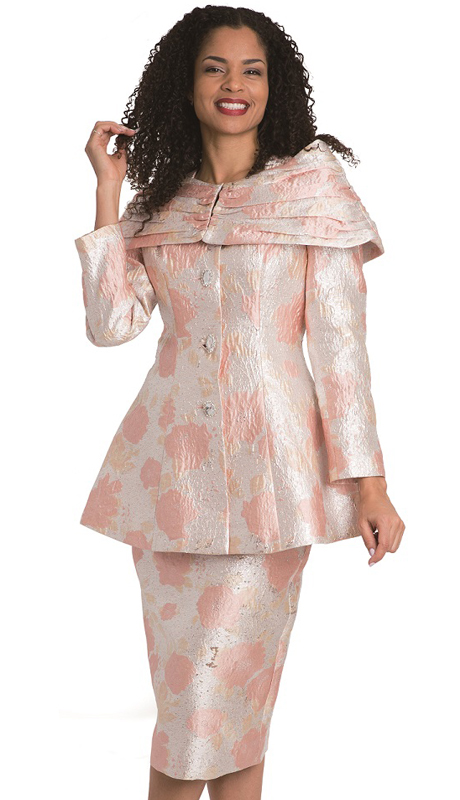 Diana Couture 8207-CO ( 2pc Brocade Ladies Church Suit )