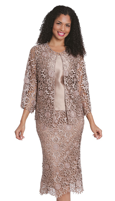 Diana Couture 8173 ( 3pc Lace Sunday Suit )