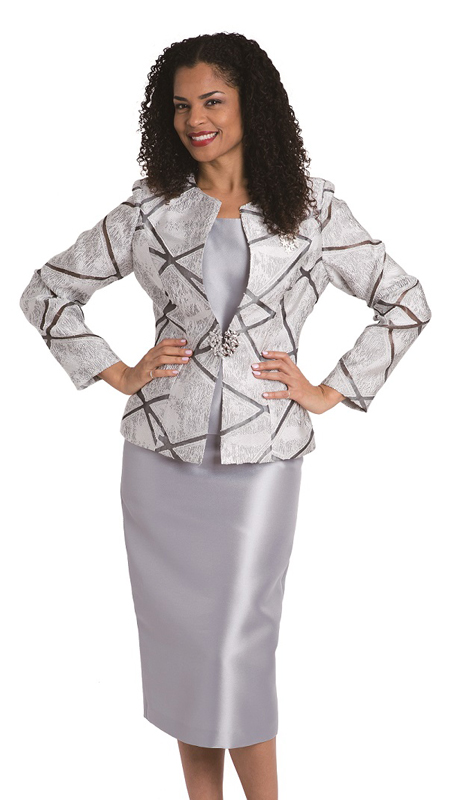 Diana Couture 8135-S ( 3pc Novelty Womens Suit For Church )