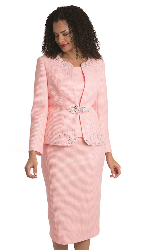Diana Couture 8136-P ( 3pc Ladies Novelty Suit For Church )