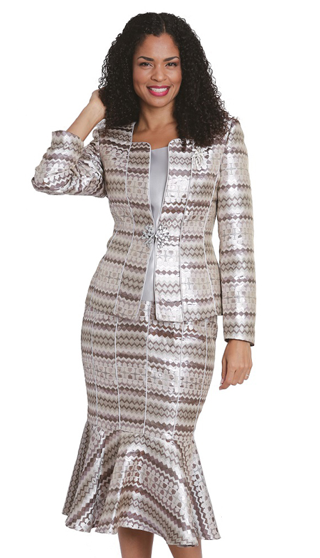 Diana Couture 8174 ( 3pc Novelty First Ladies Church Suit )