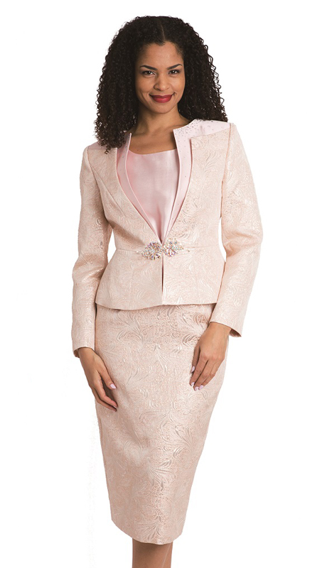 Diana Couture 8137 ( 3pc Ladies Brocade Sunday Suit )