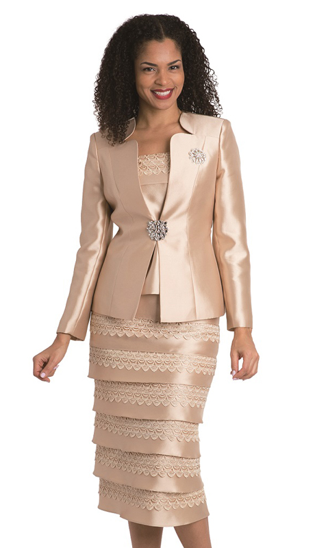 Diana Couture 8139-CH ( 3pc Silk Look Jacket Print Dress For Church )
