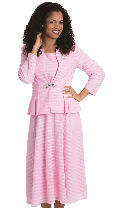 Diana Couture 8141-P-CO ( 3pc Ladies Novelty Suit For Church )
