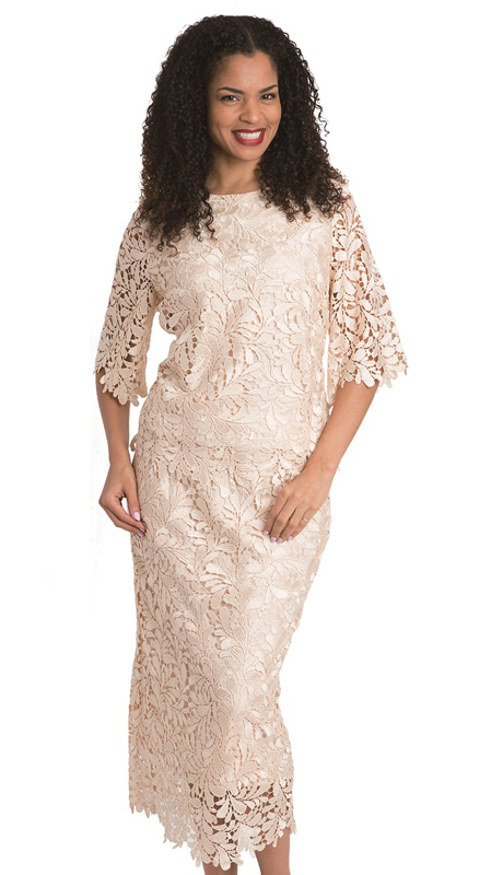 Diana Couture 8072 ( 2pc First Ladies Lace Suit )