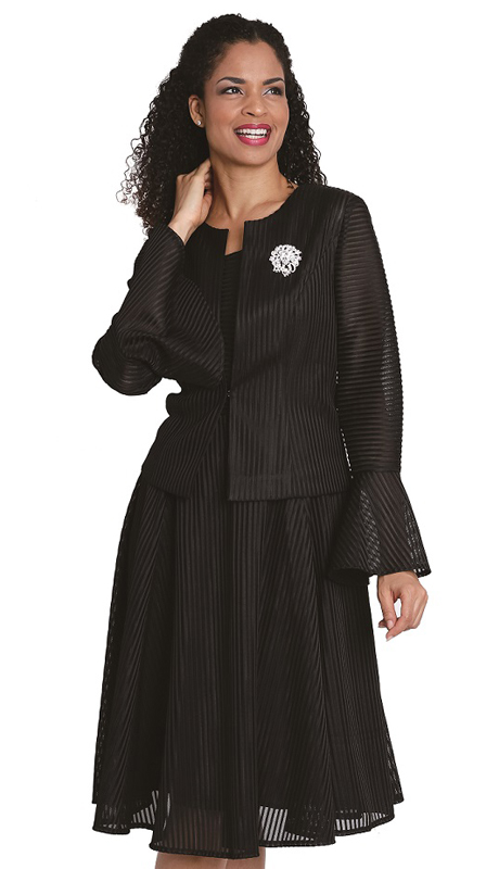 Diana Couture 8094-B ( 2pc Novelty Jacket And Dress For Church )