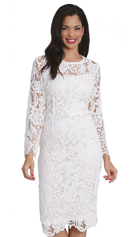 Diana Couture 7069 ( 1pc Lace Dress For Church )