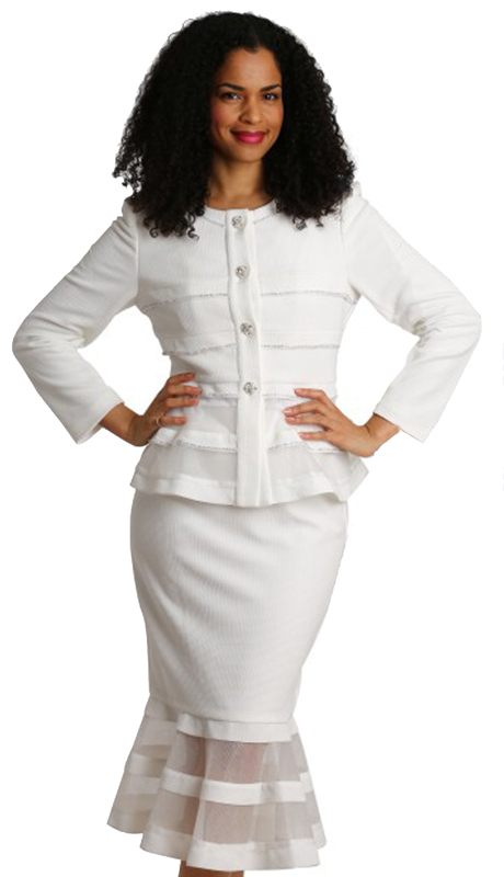 Diana Couture 8259-IV ( 2pc Novelty Womens Suit For Church )