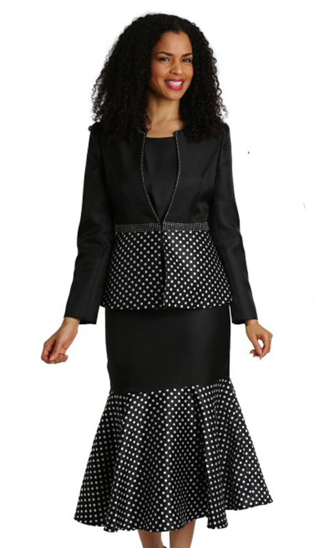 Diana Couture 8264-BW-CO ( 3pc Silk Ladies Suit For Sunday )