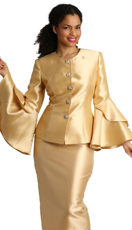 Diana Couture 8277-WH-CO ( 2pc Novelty Womens Sunday Suit )