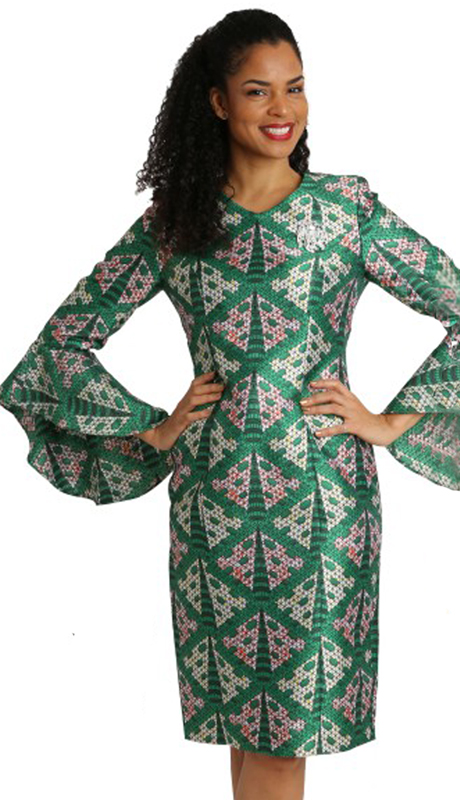 Diana Couture 8228-PR ( 1pc Silk Dress For Sunday )