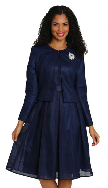 Diana Couture 8069-NA ( 2pc Novelty First Lady Dress With Brooch )