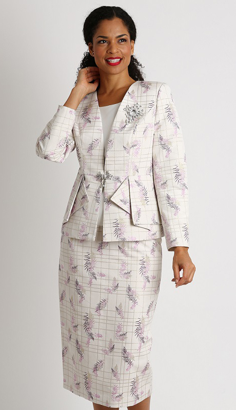 Diana Couture 8286-IL-CO ( 3pc Novelty Womens First Lady Suit )