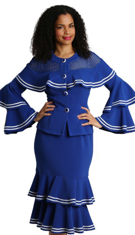 Diana Couture 8279-RW ( 2pc Novelty Ladies Sunday Suit )