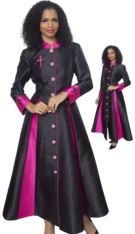 Diana Couture 8521-BF ( 1 Pc Silk Women Sunday Robe For Church )